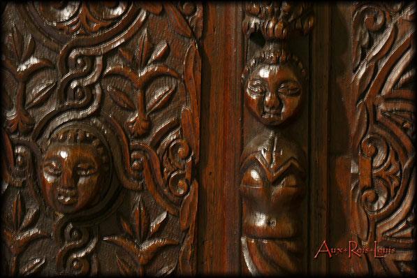 Coffre en chêne – XVIIᵉ siècle – Auvergne