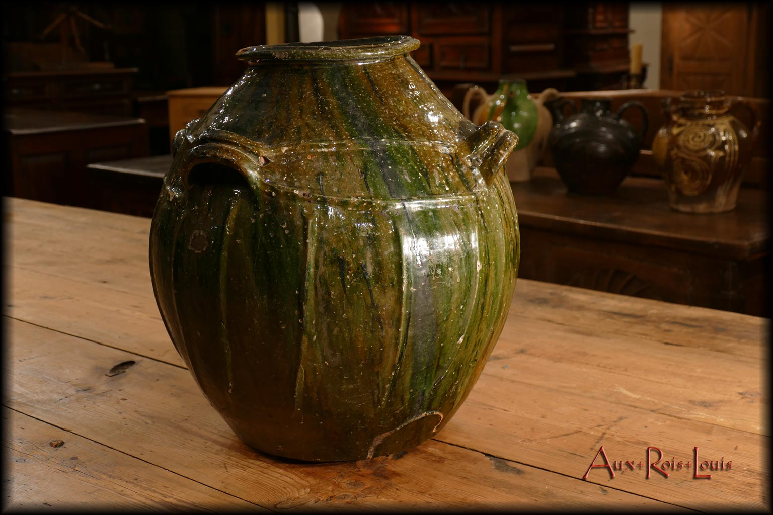 The lead varnish has remained intact and brings out the exquisite green tinted glaze.