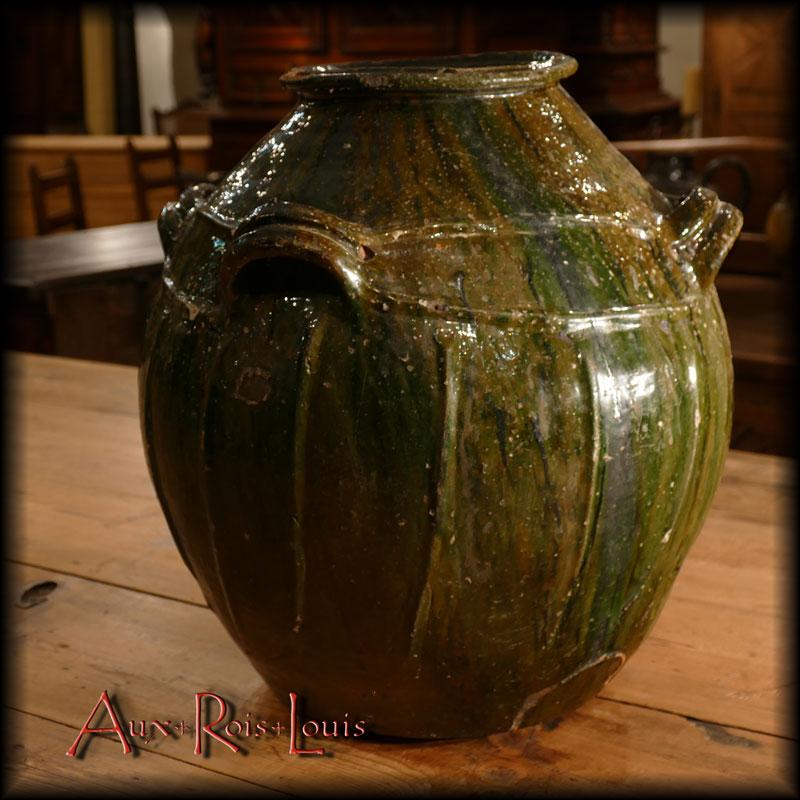 Varnished earthenware oil jar – 19ᵗʰ century – Auvergne – Massif Central
