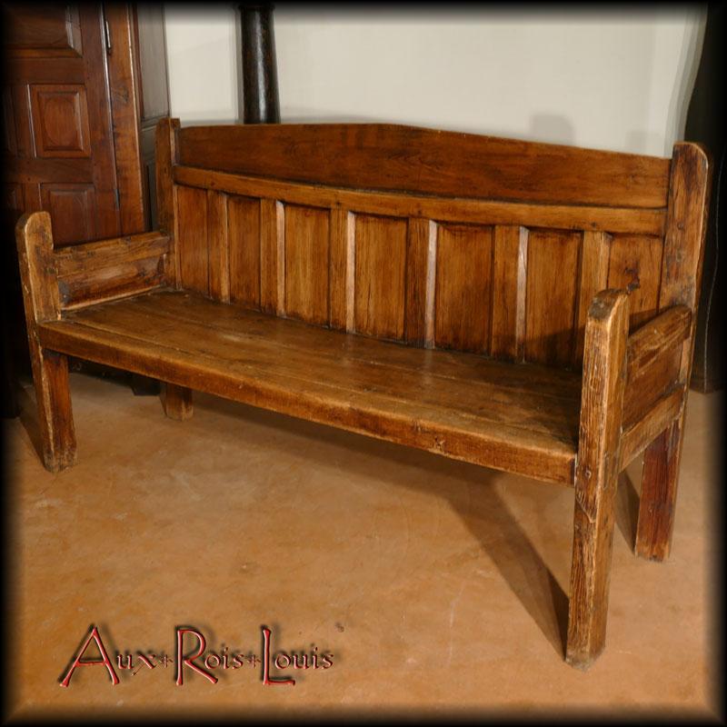 Grand fir fireplace bench – 19ᵗʰ century – Pyrénées