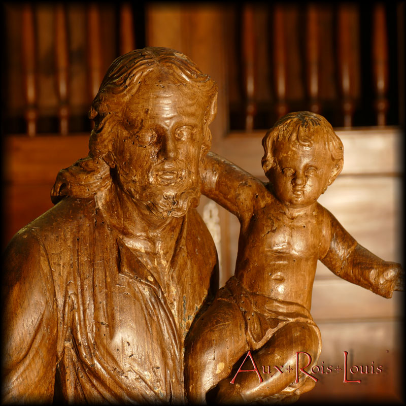 Saint Joseph and the Christ Child from the front