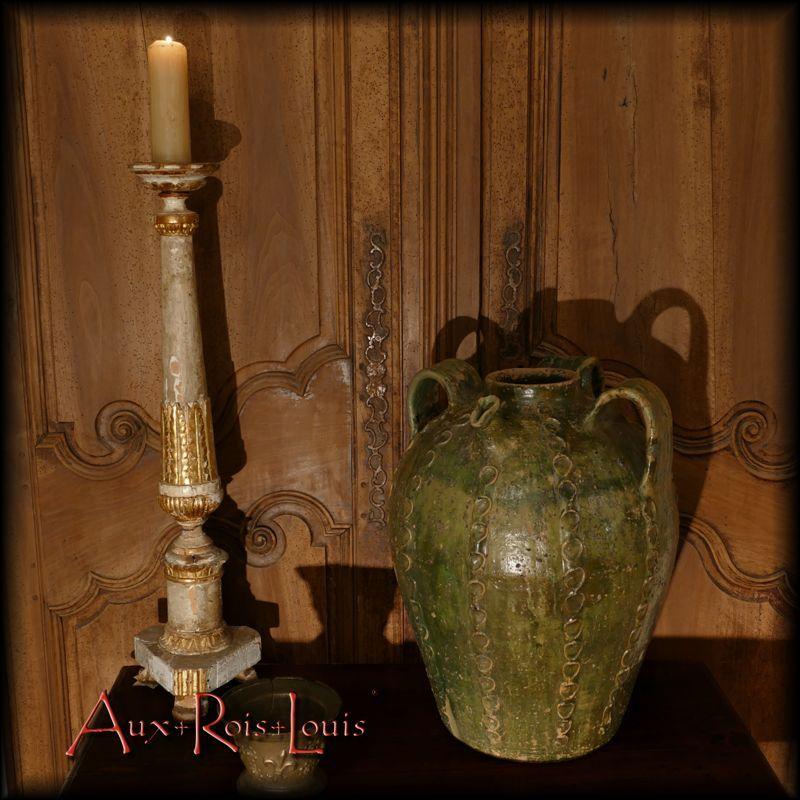 Pique-cierge – XVIIIᵉ siècle & Cruche à huile – XIXᵉ siècle – Périgord