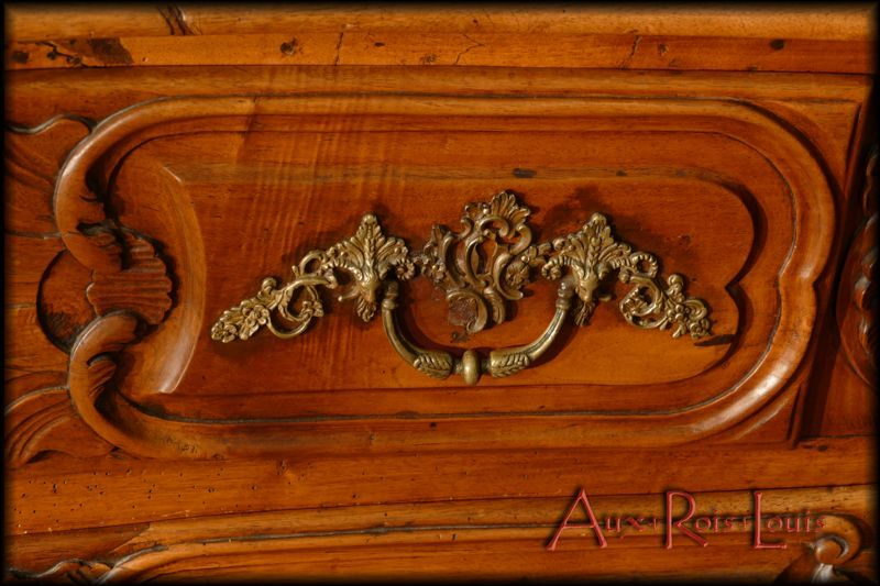 Eventful moldings and bronze handles decorated with plant motifs