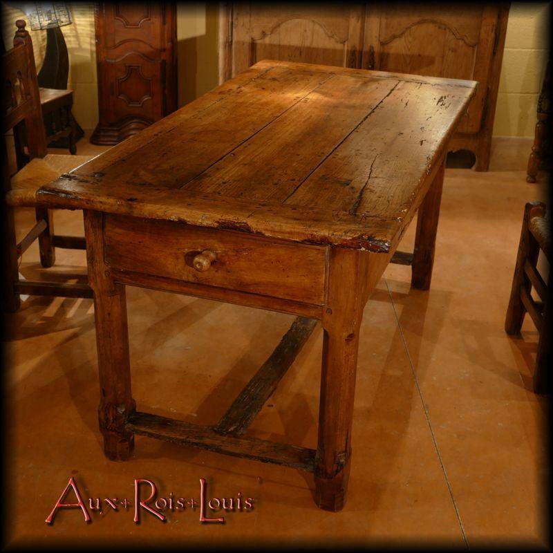 Table de ferme en merisier – XIXᵉ siècle – Périgord [MP013]