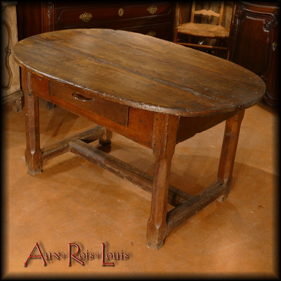 Winegrower's table in oak and cherry wood – 18ᵗʰ century – Lot – [MP014]