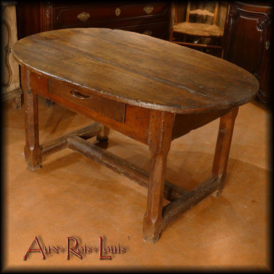 Table de vigneron en chêne et merisier – XVIIIᵉ siècle – Lot – [MP014]