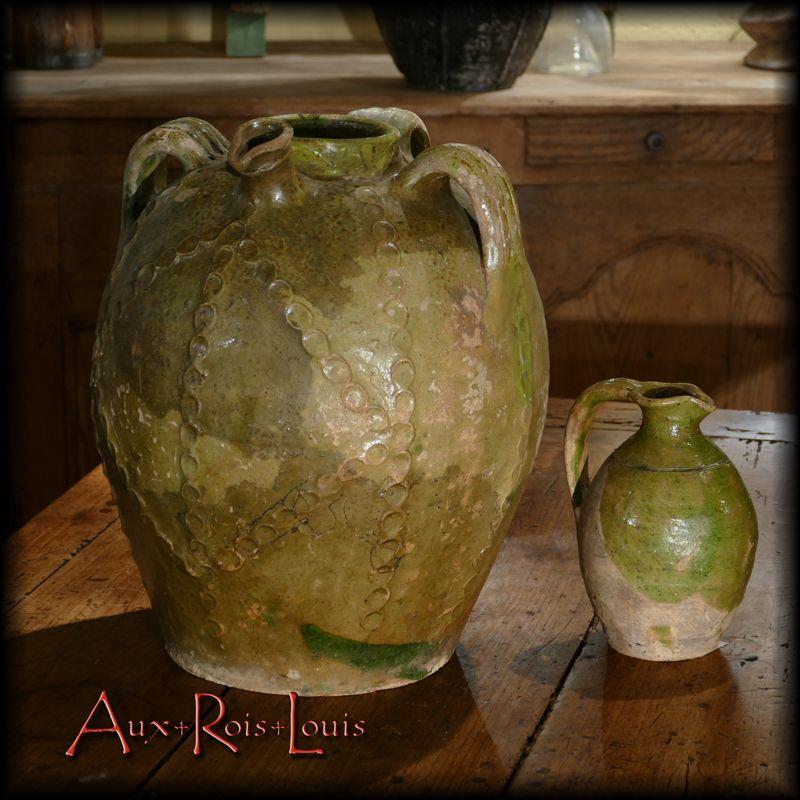 Glazed terracotta jugs – 19ᵗʰ century – Beauronne-Douzillac – [PA039 - PA040]