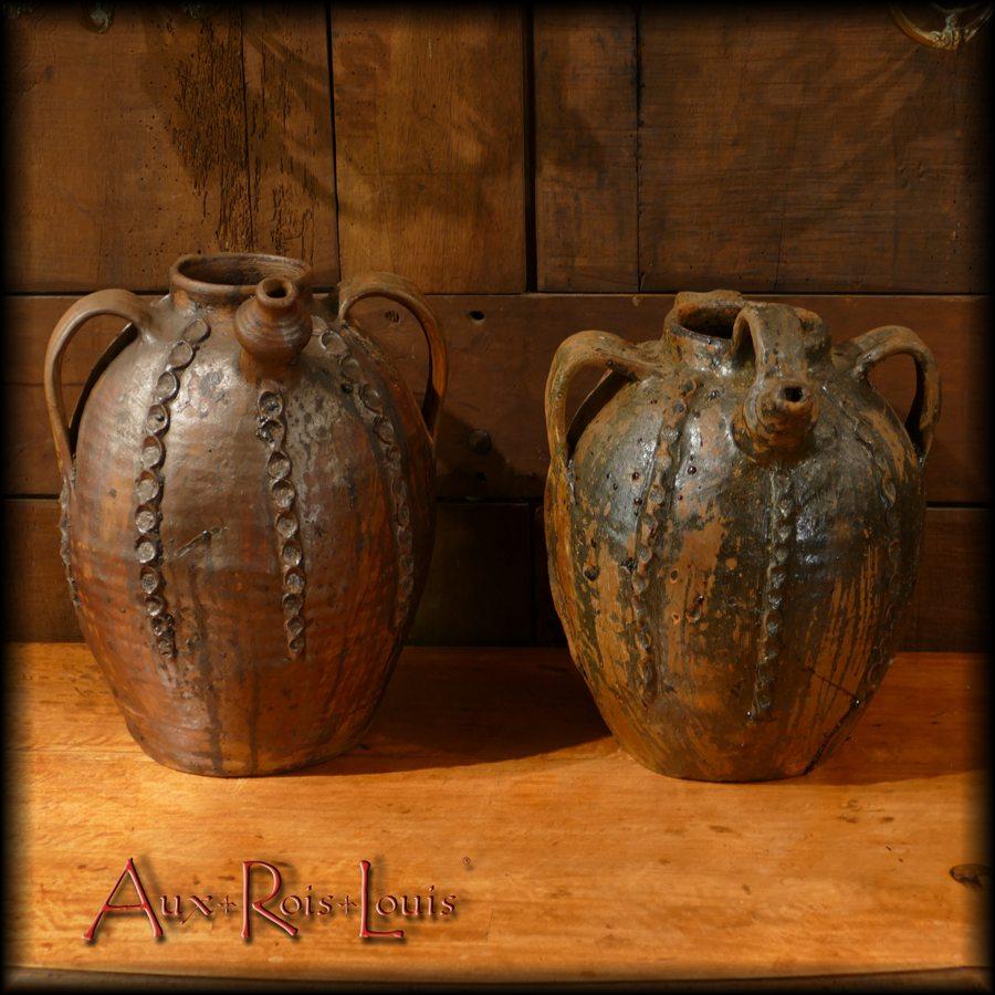 Two oil jugs - 19ᵗʰ century - Périgord - [PA053] [PA054]